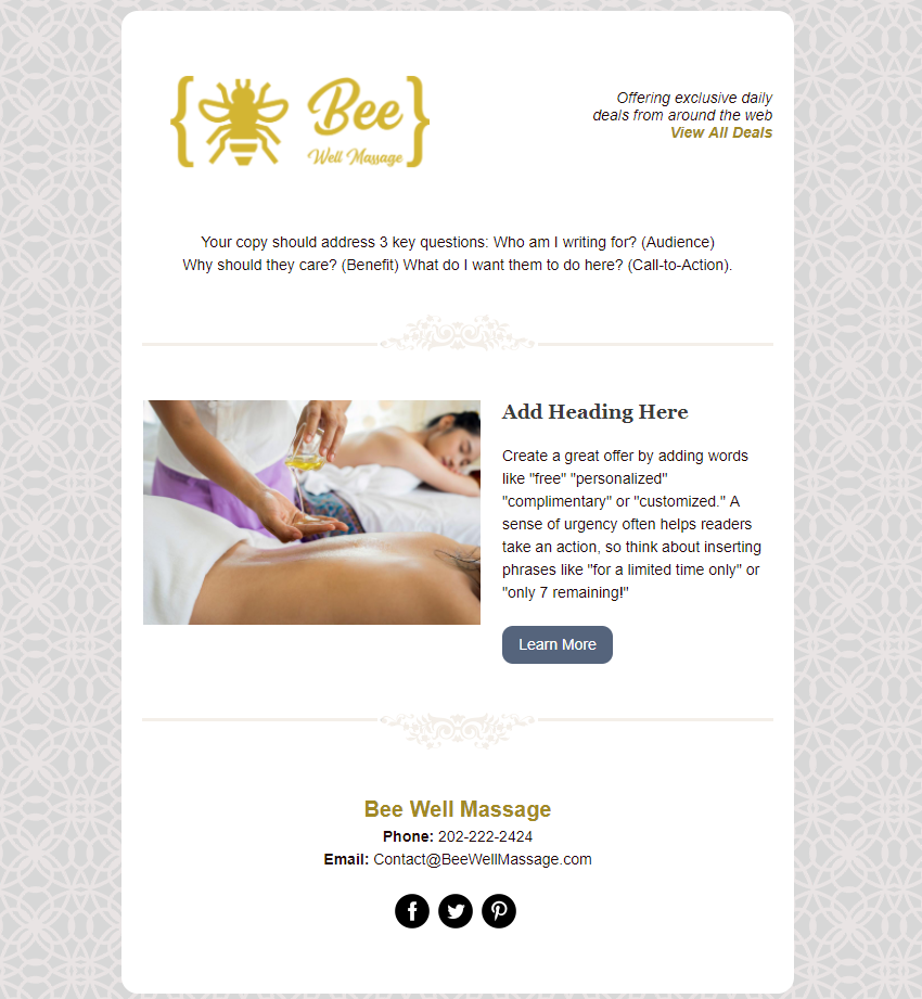 Bee-Well Massage In Product