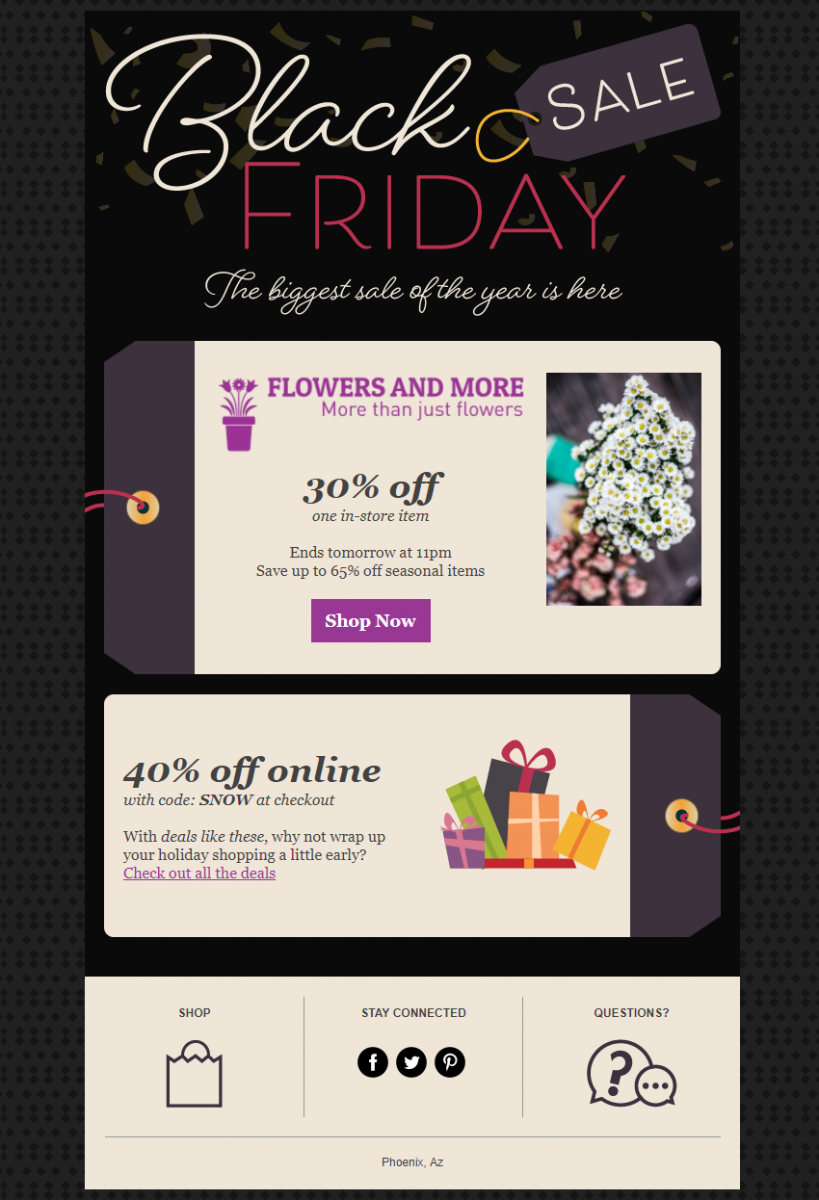 Black Friday In Product Template