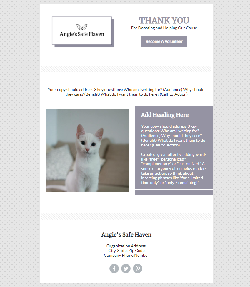 Non Profit In Product Template Preview