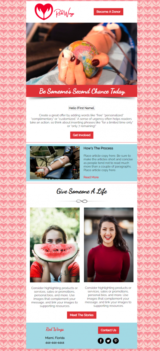 Non Profit Campaign Design Template Preview