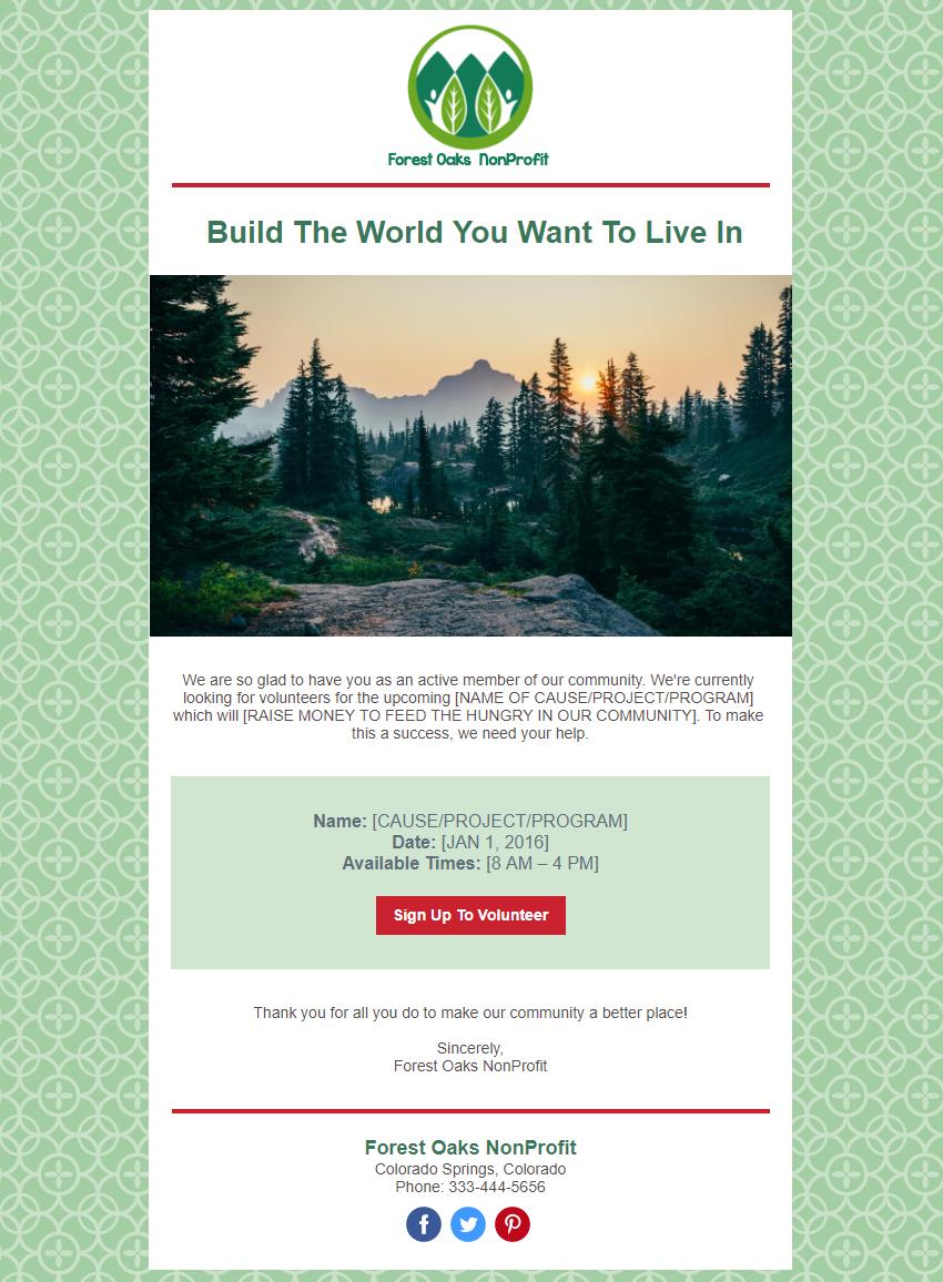 Non Profit Campaign Design Template Preview