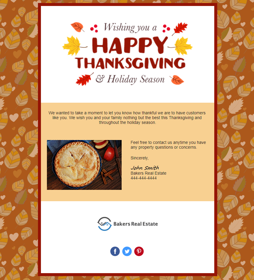 Happy Thanksgiving In Product Template Preview