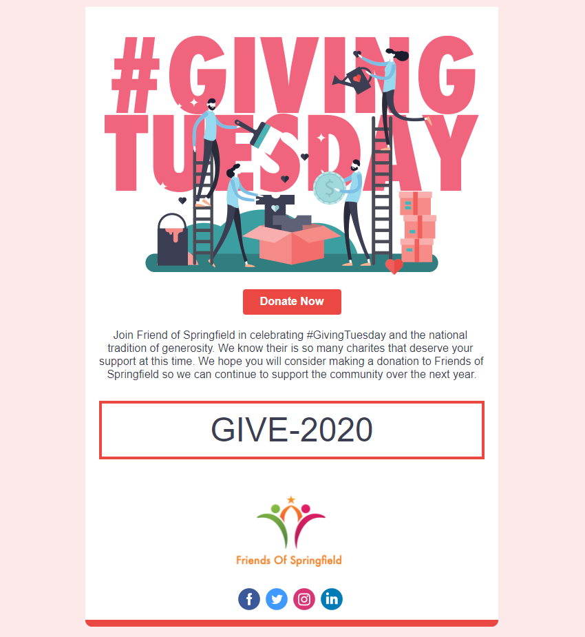 Giving Tuesday In Product Holiday Template