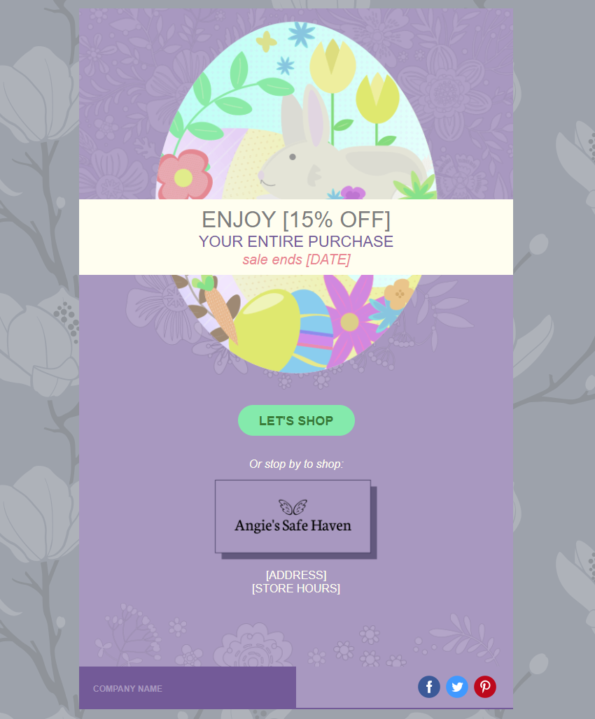 Angies Safe Haven In Product Holiday Example