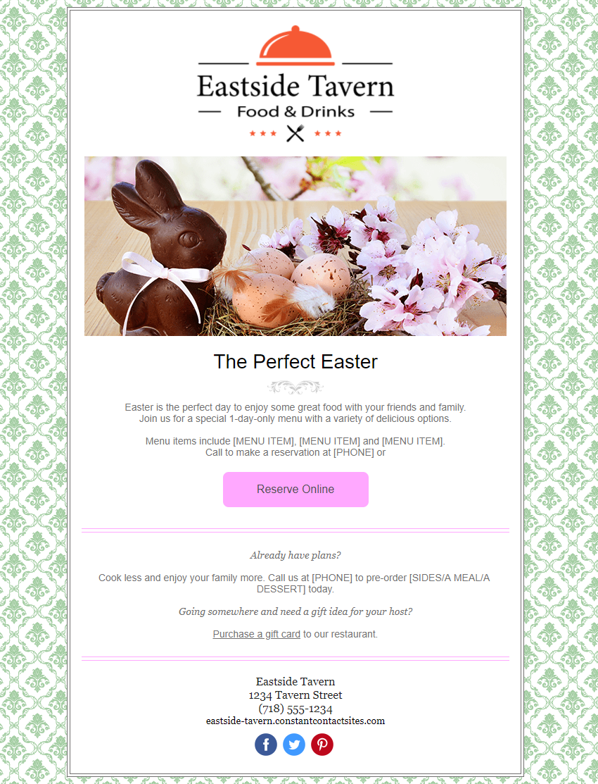 Easter In-Product Template Preview