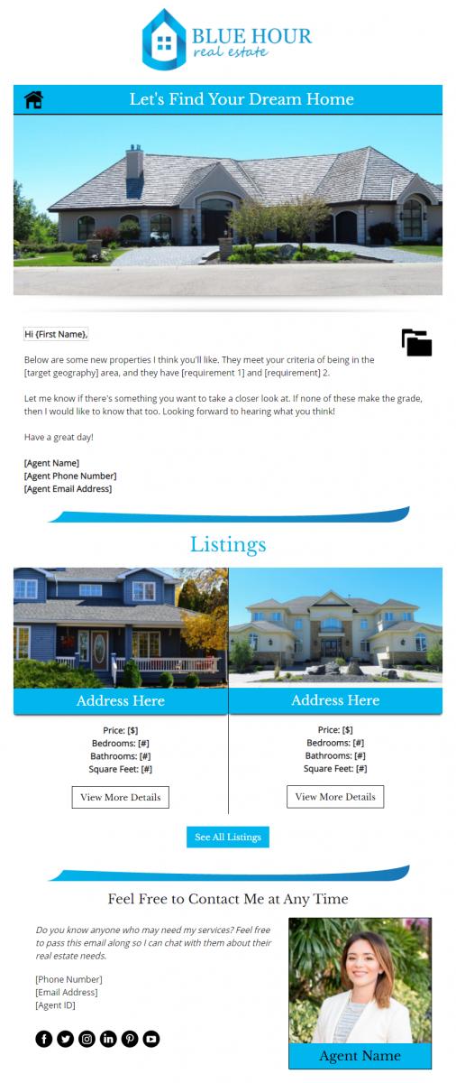 Blue Hour Real Estate - Premium Design