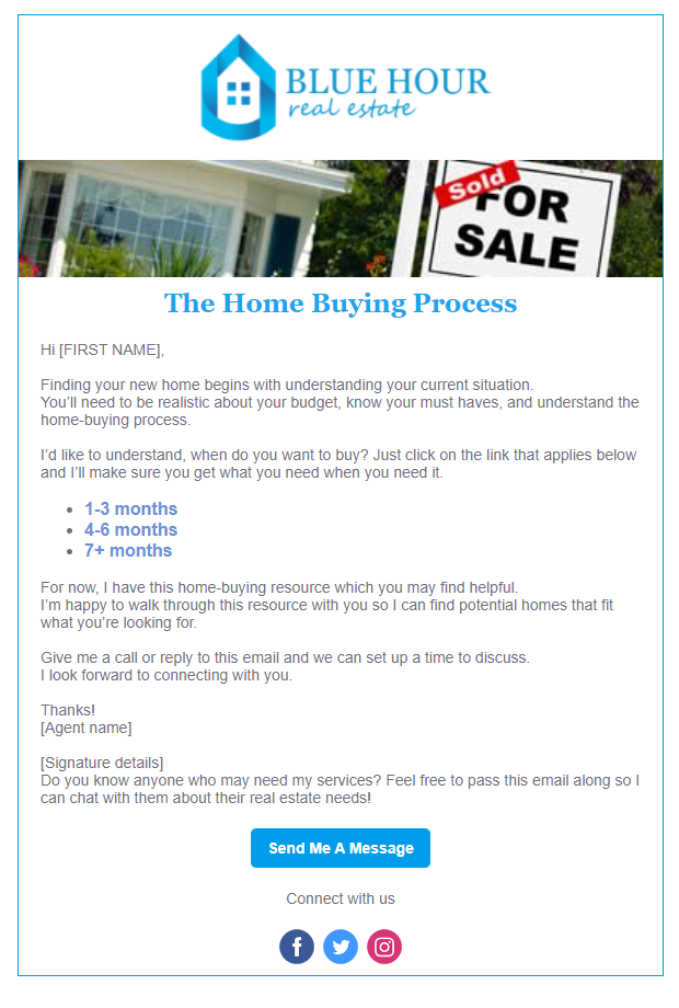 Real Estate In Product Template - Blue Hour