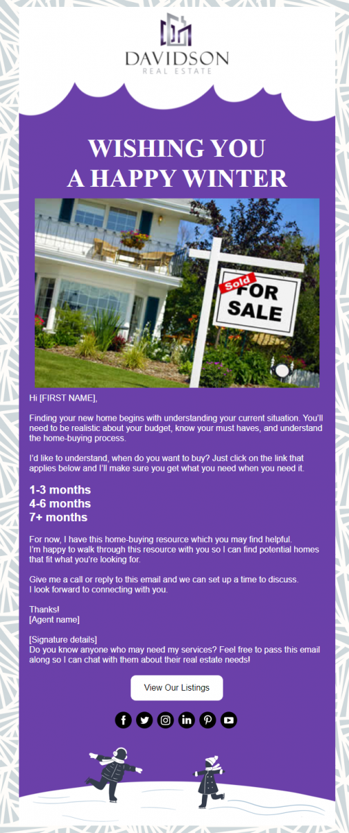 Real Estate In Product Template - Davidson