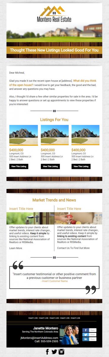 Real Estate Premium Design Example - Montero Real Estate