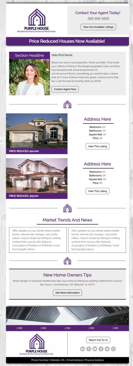 Real Estate Premium Design Example - Purple House